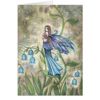 Blue Bell Flower Fairy Card