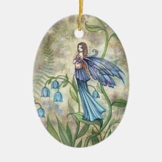 Blue Bell Flower Fairy Ornament