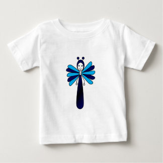 Blue 'Bella' Butterfly Baby T-Shirt