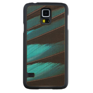 Blue-Bellied Roller Feather Abstract Carved Maple Galaxy S5 Case