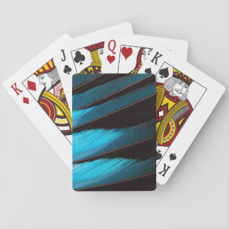 Blue-Bellied Roller Feather Abstract Playing Cards