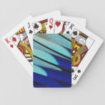Blue-bellied Roller feathers Playing Cards