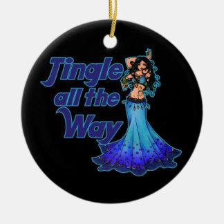 Blue belly dancer christmas ornament