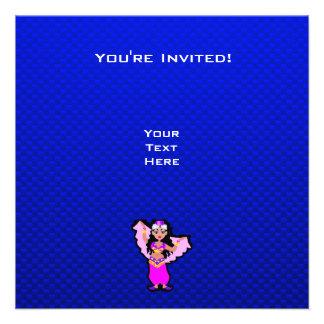 Blue Belly Dancer Custom Invitations