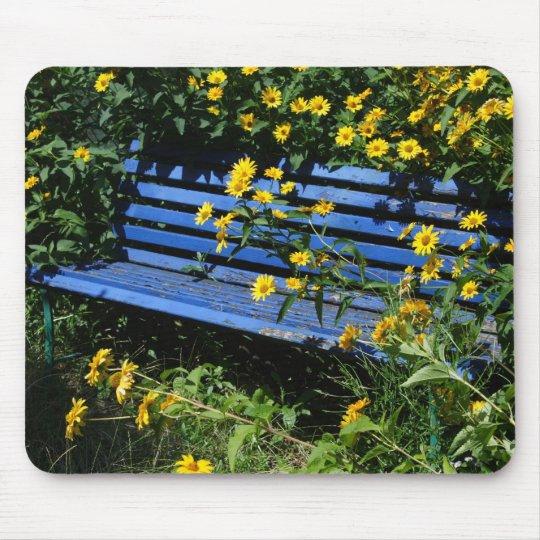 blue bench mouse mat