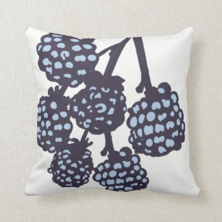 Blue Berries Blossom Decor#8a Modern Throw Pillow