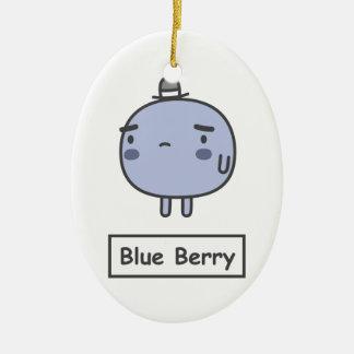 Blue Berry Ceramic Oval Decoration