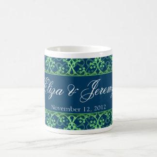 Blue Berry Cluster Wedding Mug