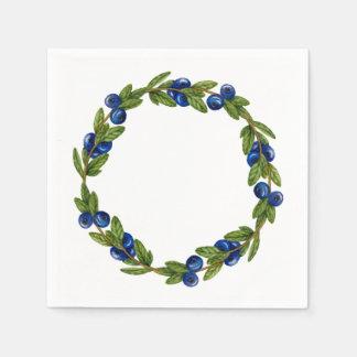 Blue Berry Wreath Paper Napkins Disposable Serviette