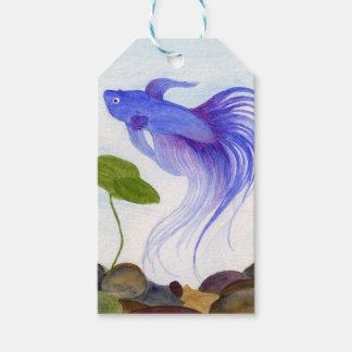 Blue Betta Fish Gift Tags