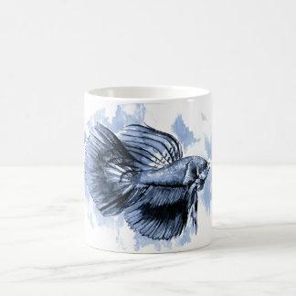 Blue Betta Fish Mug