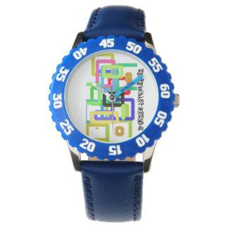 Blue Bezel Watch Grafetti