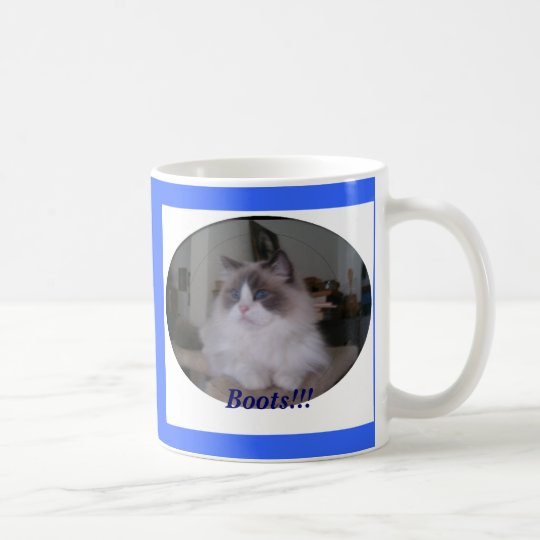 Blue Bi-Colour Ragdoll Cat, Boots!!! Coffee Mug