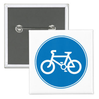 Blue Bicycle Button
