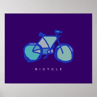 blue bicycle decorative print