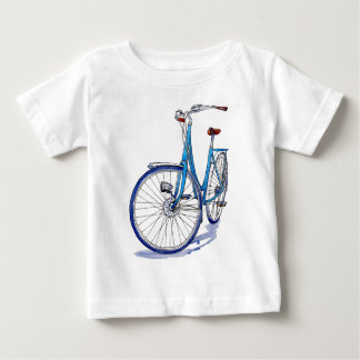 Blue bicycle drawing baby T-Shirt