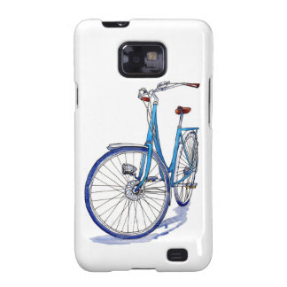 Blue bicycle drawing samsung galaxy SII covers