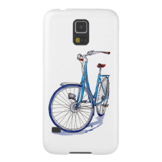 Blue bicycle drawing galaxy s5 cover