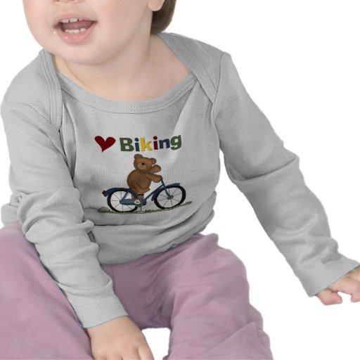 Blue Bicycle I Love Biking Tshirts and Gifts