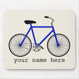 Blue Bicycle Mousepad