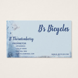 Blue Bicycle Street Scene Painting Business Card