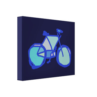 blue bicycle wall decor gallery wrapped canvas