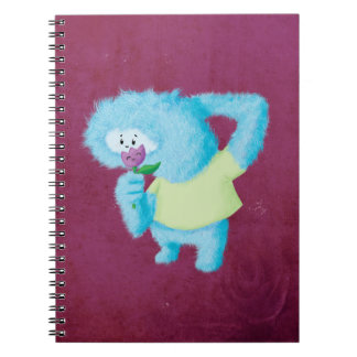 Blue Big Furry Monster Notebooks