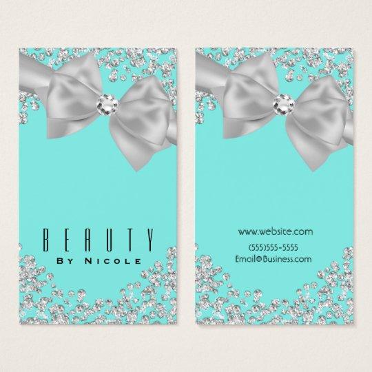 Blue Big White Bow Diamonds Chic Wedding Business