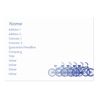 Blue Bike - Chubby Pack Of Chubby Business Cards
