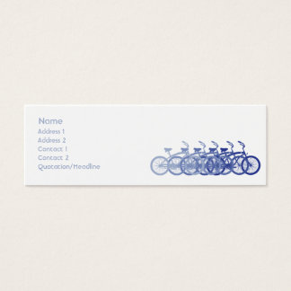 Blue Bike - Skinny Mini Business Card