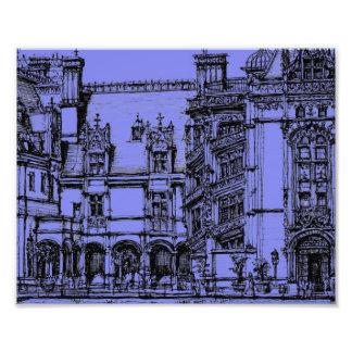 Blue Biltmore detail Photographic Print