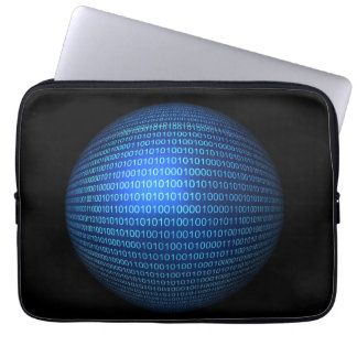 Blue Binary Logic Laptop Sleeve