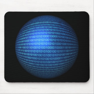 Blue Binary Logic Mousepad