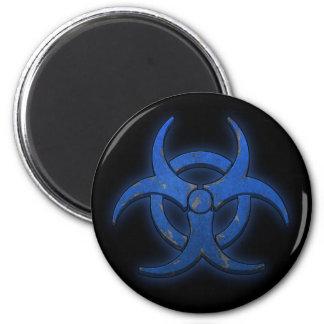 Blue Biohazard Magnet
