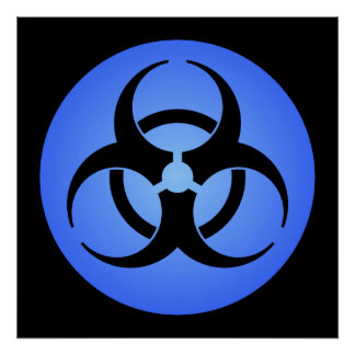Blue Biohazard Poster Posters