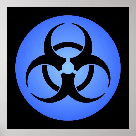 Blue Biohazard Poster