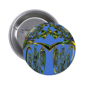 Blue bird 6 cm round badge