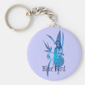 Blue Bird Basic Round Button Key Ring