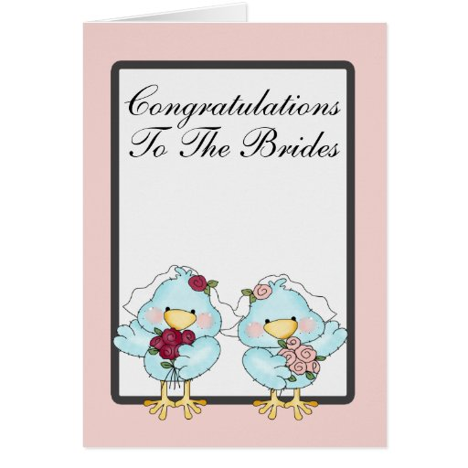 Blue Bird Brides Wedding Card