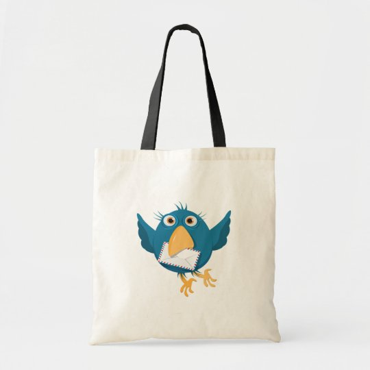 Blue Bird Holding An Envelope