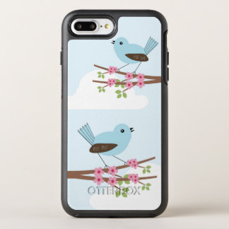 Blue Bird in Blossom Tree OtterBox Symmetry iPhone 8 Plus/7 Plus Case