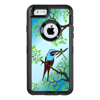 Blue Bird in Trees OtterBox Defender iPhone Case