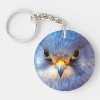 Blue Bird Key Ring Single-Sided Round Acrylic Key Ring