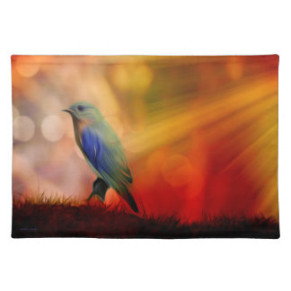 Blue Bird of Happiness Placemat
