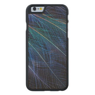 Blue Bird Of Paradise Feather Abstract Carved Maple iPhone 6 Case