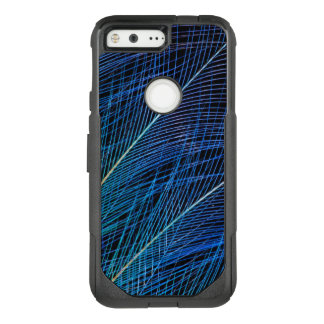 Blue Bird Of Paradise Feather Abstract OtterBox Commuter Google Pixel Case