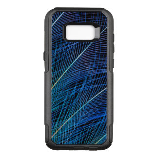 Blue Bird Of Paradise Feather Abstract OtterBox Commuter Samsung Galaxy S8+ Case