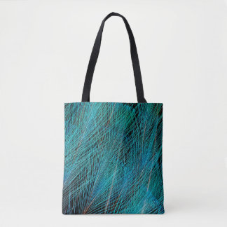 Blue Bird Of Paradise Feathers Tote Bag