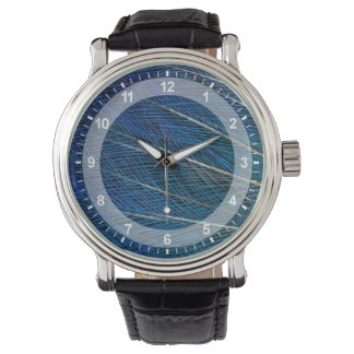Blue Bird of Paradise feathers Watch
