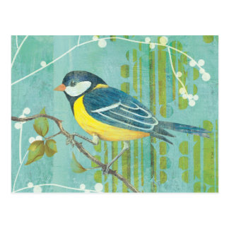Blue Bird Perched on a Tree Postcard